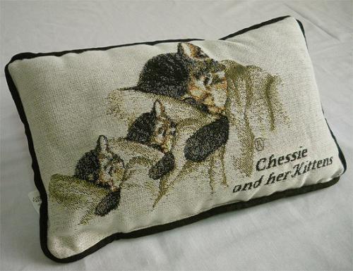 アメリカにかつてあったChesapeake and Ohio 鉄道のマスコットキャラクターであった猫が描かれたクッションです。  この他にもショップには色々な商品がございますので、どうぞご覧ください。  Station Store http://stationstore.shop-pro.jp/