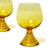 ソガガラスのCHUMシリーズのワイングラスです。 脚のデザインがとても素敵です。 70年代のデッドストックです。 ◎メーカー:ソガガラス ◎サイズ:飲み口の直径約5.5cm、全体の高さ約12cm