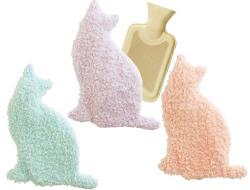 .゜*.*.。・*あったかエコな冬の定番アイテム*.*.。・*゜. 優しいペールカラーの猫型カバーと、湯たんぽのセットです。 可愛いネコちゃんのカバーはボワフリース素材なので、とても肌触りがよく、フワフワしています。 まるで本当の猫ちゃんを抱っこしているみたい♪  今や冬の定番となった、湯たんぽ。 ご家族で色違いを揃えてもステキですね♪プレゼントにも最適です。  あったか防寒グッズで、冬を乗り切りましょう♪