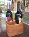バリ島で人気のアタ素材で作ったハンドル付きワインボトル入れ。売れ筋商品です!丈夫でシンプルなデザインはどんなインテリアにも合いますよ。ひとつひとつが丁寧に作られた職人さんの手作りです。