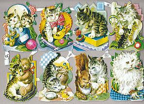 ドイツのクロモスシートです。ネコやとり、花などいろいろな種類があります。ラメ入りやラメなしもあります。 ラッピングやコラージュにお役立て下さい♪