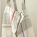 リトアニアリネン  バッグ【リーノ・エ・リーナ】 人気のキッチンクロスと同デザインのバッグ。 かわいいです。 『マスターズ・オブ・リネン』認定のファブリックを使用しています。