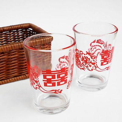 中国のダブルハピネスミニミニグラス