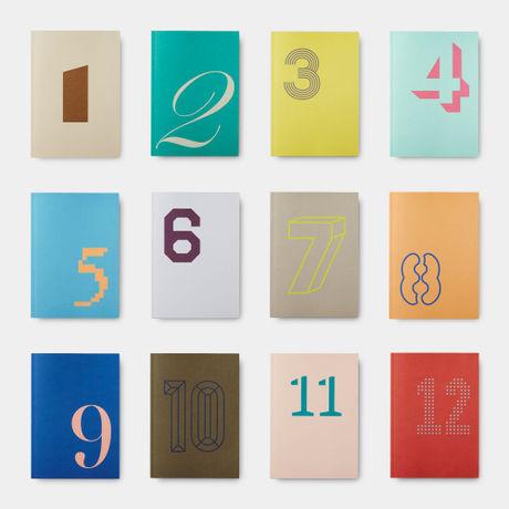 """「PALEVAIL(ペールベール)」は、薄紙の高度な印刷技術を誇る岩岡印刷工業(株)とグラフィックデザインカンパニーSAFARI inc.により2015年に生まれた新たなペーパープロダクツブランドです。その第一弾「Daily Note& Weekly Note」は身近な薄紙印刷として長く親しまれている""""日めくりカレンダー""""をもとに、日々新しいページをめくる楽しみ、そして薄紙特有の軽く滑らかなめくり心地に、デザインと機能を取り入れた日常使いの""""日めくりノート""""です。ページをめくる毎に、さり気なく現れる様々なデザインのグラフィックは、毎日の何気ない一瞬にそっと視覚的な変化による楽しさを与えてくれます。  ----------------------------  Daily Noteの12冊のセットです。 1〜12までの数字別に様々なグラフィックフォントにより分けられたノート。  12ヶ月ごとに使い分けたり、好きな数字や選別用のナンバリングなど、アイデア次第で自由にご活用頂けます。"""