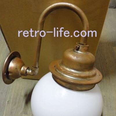 真鍮古色エイジング塗装ブラケット照明