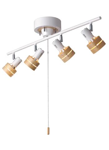 1つのシーリングライトから多数のライト。特定の対象物に光を当て、配光を自由に取ることができる照明器具です。ご家庭のシーリングで簡単に取り付けができます。レース向き、スポット向きは自由に動かすことが可能です。