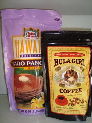 ☆Hula Girl 100% インスタント KONA COFFEE 50g X1袋 ☆タロ パンケーキ mix 567g X 1袋