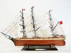 有名なイギリスの帆船「カティサーク」の木製模型です。 重量感と高級感の溢れる逸品に仕上がっております。 他にも多数の帆船模型を入荷していますので是非一度サイトの方へ足をお運びください。