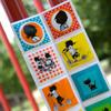 オランダの人気キャラクター「イップとヤネケ」のマグネット。 プクッとふくらんでいて、切り離して使います。カラフルな色、絵柄が楽しいですね!