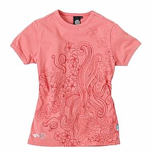 女性用Tシャツ Sサイズ Brunotti Bangy Womens T-shirt Coral オランダ Fit : Slim fit  首周り後部に刺繍があります。 サイドステッチがあります。