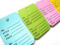 カラフルな4色のプライスタグのセットです。 ホームショップやフリーマーケットの値札として使ってもOK☆ お友達へのプレゼントにメッセージを入れて添えてたり、 お子様のおままごとに使ってもかわいいですよ♪