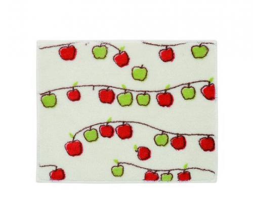 枝いっぱいにたくさん実ったリンゴが・・・あっ!落ちちゃった。 そんな瞬間を素朴なイラストに。 ほのぼのとしたムードが漂う空間を演出します。