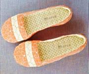 【夏】フラワー刺繍のルームシューズ